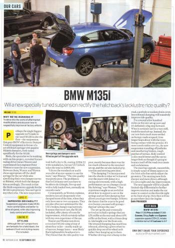 Editorial - F20 M135i Birds Development Pt 2 Suspension - Autocar - Sep 2017