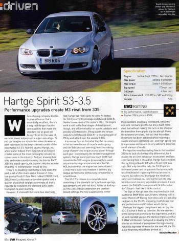 Editorial - Evo 'Hartge Spirit' - E92 335i - April 2007