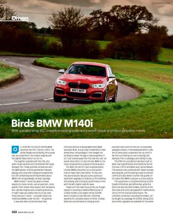 Editorial - Birds BMW M140i - EVO Magazine May 2020