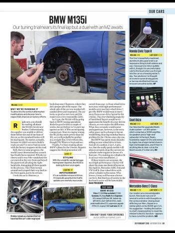 Editorial - F20 M135i - Birds B1 development complete, upcoming M2 comparison - Autocar Magazine - February 2018
