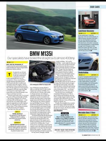 Editorial - F20 M135i Development pt 4 ECU - Autocar Magazine - January 2018