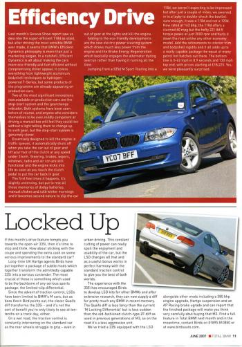Editorial - Total BMW 'Locked up' - E92 335i - June 2006