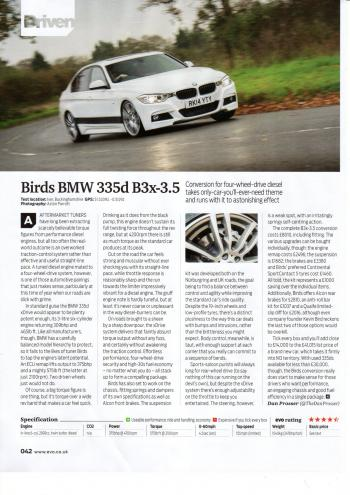 Editorial - EVO magazine - F30 335dx upgrades and tuning - March 2016