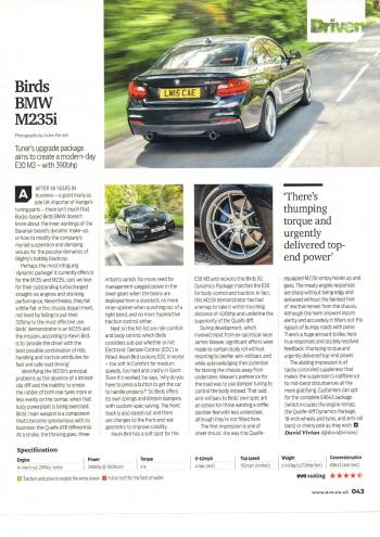 Editorial - F22 M235i - Birds B2 review - EVO Magazine - July 2017