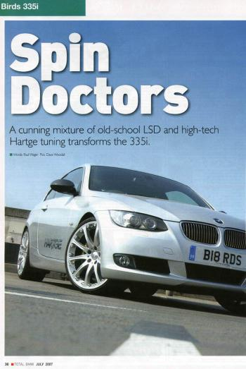 Editorial - Total BMW 'Spin Doctors' - E92 335i - July 2007